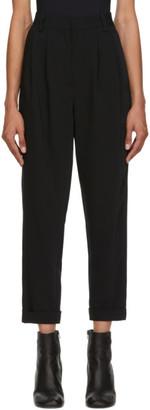 MM6 MAISON MARGIELA Black Crop Trousers