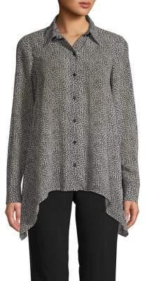 MICHAEL Michael Kors Cheetah-Print Long-Sleeve Shirt
