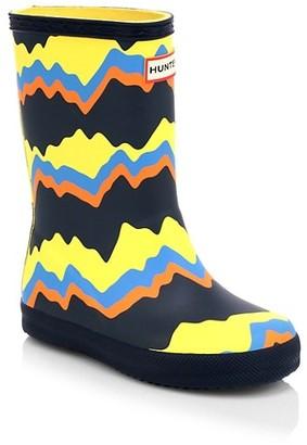 Hunter Little Kid's Kid's First Classic Storm Stripe Boots
