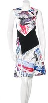 Prabal Gurung Brushstroke Paneled Dress