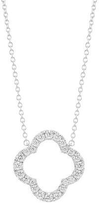 Hearts On Fire 18K White Gold & Diamond Large Petal Pendant Necklace