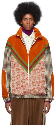 Gucci Orange Tiger Heads Sweater