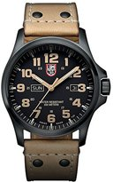 Luminox Atacama Field Day Date Men's Quartz watch with Black dial featuring LLT light Technology 45 millimeters Stainless Steel case and Brown Leather Strap XL.1925