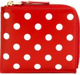 Comme des Garcons 'Polka Dots Printed' zip wallet - unisex - Leather - One Size