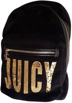 Juicy Couture Black Velvet Backpacks