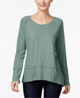 Style&Co. Style & Co Raw-Edge Scoop-Neck Top, Only at Macy's