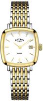 Rotary Windsor Cushion Stainless Steel Two Tone Mesh Bracelet Ladies Watch