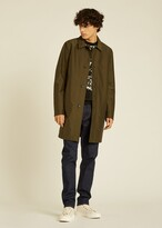 Thumbnail for your product : Paul Smith Men's Khaki Green Recycled-Polyester Mac