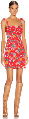 Andamane Donna Mini Dress in Floral Red | FWRD