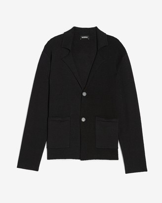 Express Solid Single Breasted Cardigan