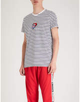 The Rolling Stones striped cotton-jersey T-shirt