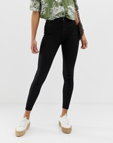 New Look high rise stretch skinny jeans in black