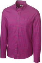 Cutter & Buck Purple Plaid Button-Up Top - Big & Tall