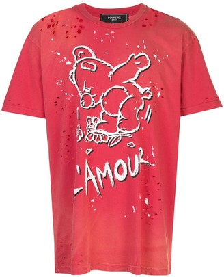 Dom Rebel Amour distressed T-shirt