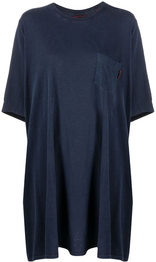 Denimist pocket-detail T-shirt dress