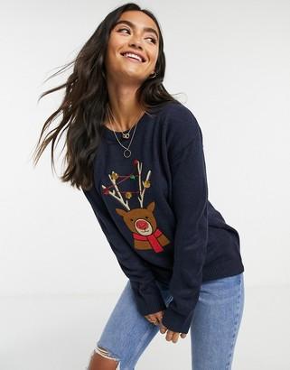 Brave Soul reindeer christmas jumper