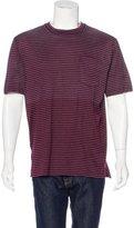 Lanvin Striped Distressed T-Shirt