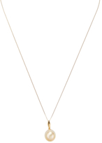 18K Yellow Gold & Golden South Sea Pearl Pendant Necklace