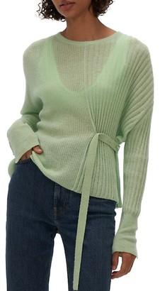 Helmut Lang Tab Detail Crewneck Sweater