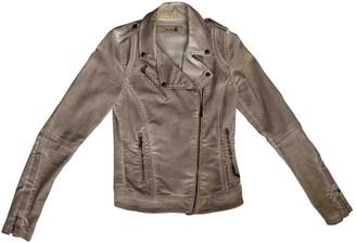 Non Signé / Unsigned Non Signe / Unsigned Beige Denim - Jeans Jacket for Women