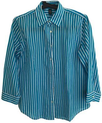 Lauren Ralph Lauren Turquoise Cotton Top for Women