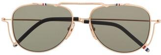 Thom Browne TBS917 aviator sunglasses
