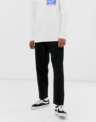 ASOS tapered jeans in 14 oz black denim