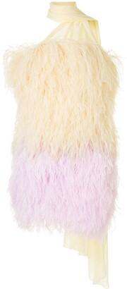 16Arlington Ombre Full Feather Mini Dress