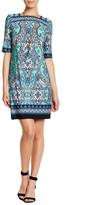 Sandra Darren Printed V-Back Dress (Petite)