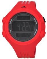 adidas Men's Questra XL 55mm Red Polyurethane Band Plastic Case Quartz Black Dial Digital Watch ADP6084