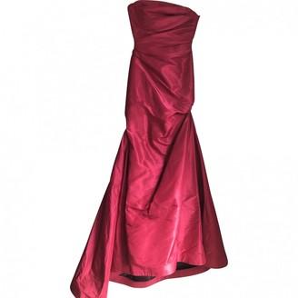 Reem Acra Red Silk Dress for Women