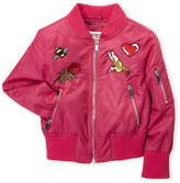 Urban Republic Girls 4-6x) Magenta Embroidered Twill Bomber Jacket