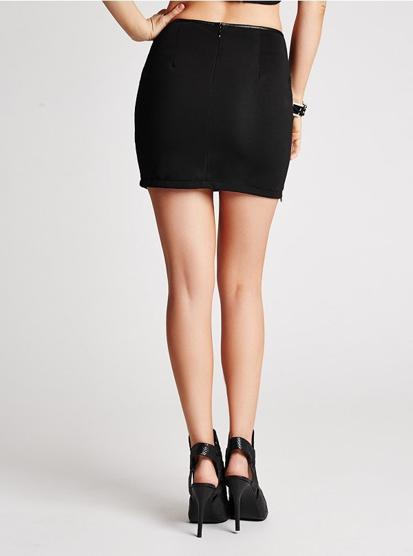 GUESS Metallic Faux-Leather Miniskirt