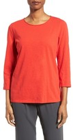 Eileen Fisher Women's Slubby Organic Cotton Jersey Top