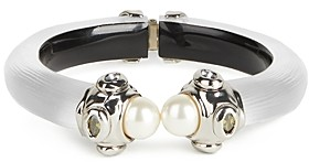 Alexis Bittar Future Antiquity Multi-Crystal & Imitation Pearl Capped Lucite Cuff Bracelet