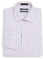 Saks Fifth Avenue Slim-Fit Check Cotton Dress Shirt