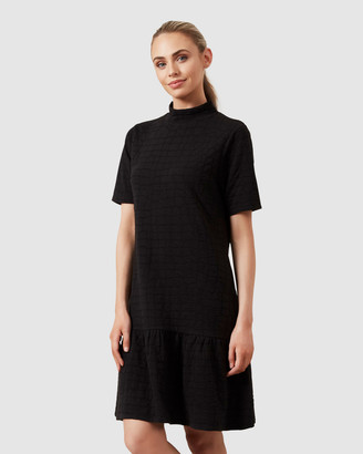 French Connection Textured Jersey Frill Dress