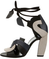 Pierre Hardy Leather-Trimmed Sandals w/ Tags