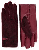 George Faux-Fur Panel Gloves