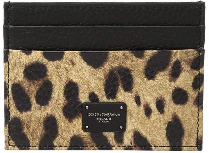 Dolce & Gabbana Leopard Card Holder