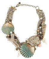 Badgley Mischka Shell Embellished Multistrand Necklace