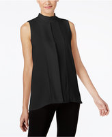 Alfani PRIMA Pleated Mock-Neck Top, Only at Macy's