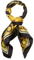 "Versace Floral Silk Square Scarf, 35"" x 35"""