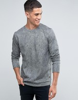 ONLY & SONS Crew Neck Sweat with Print Texture Detail
