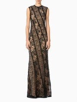 Jason Wu Corded Web Lace Sleeveless Crew Neck Gown