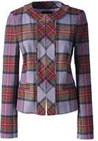 Classic Women's Plaid Femme Jacket-Purple Ash Plaid