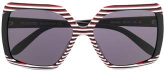 Missoni striped oversized sunglasses