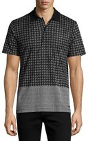 Burberry Block-Print Polo Shirt, White