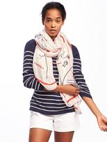 Old Navy Printed Linear Scarf