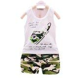 Kmety children Clothing Kmety Baby boys & Girls Summer Fashion Vest + Camo shorts